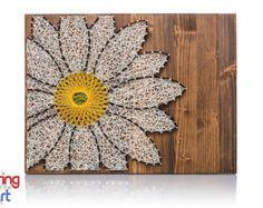 String Art DIY Kit Sunflower String Art DIY von StringoftheArt