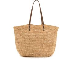 Bop Basics Ibiza Tote (€89) ❤ liked on Polyvore featuring bags, handbags, tote bags, purses, natural, tote handbags, tote hand bags, purse tote, beach tote bags and man tote bag