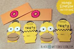 Party Invitations using Silhouette by Black & White Obsession