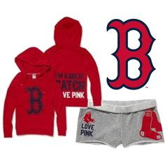 Boston Red Sox- Victoria's Secret, created by makaylalay on Polyvore