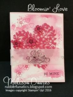Stampin' Up! Bloomin' Love by Melissa Davies @rubberfunatics #rubberfunatics #stampinup