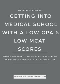 Today I'm sharing how to get into medical school with a low GPA and MCAT score. I can't guarantee admission but hopefully my tips help in some way.