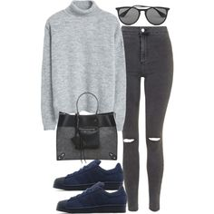 A fashion look from January 2016 featuring MANGO sweaters, Topshop jeans and adidas Originals shoes. Browse and shop related looks.