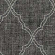 Romance Wallpaper in Silver and Black design by Candice Olson for York Wallcoverings
