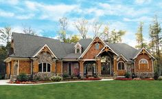 Award-Winning Gable Roof Masterpiece - 15651GE | Craftsman, Mountain, Vacation, Luxury, Photo Gallery, Premium Collection, 1st Floor Master Suite, Butler Walk-in Pantry, CAD Available, Den-Office-Library-Study, Jack & Jill Bath, PDF, Split Bedrooms, Corner Lot | Architectural Designs