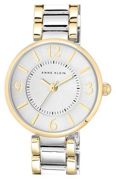 Free shipping and returns on Anne Klein Round Bracelet Watch, 26mm at Nordstrom.com. Crisp Arabic numerals decorate the beautiful sunray dial atop a polished round bracelet watch.