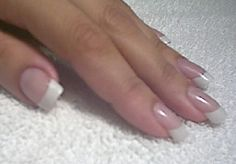 Natural nail french manicure