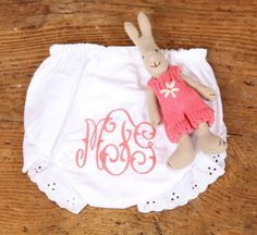 Monogrammed Bloomers - the perfect baby gift!