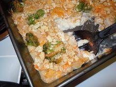 Delicious, creamy, low fat chicken - broccoli casserole