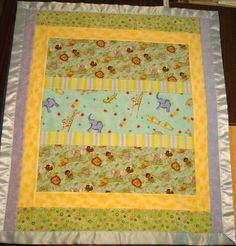 (7) Name: 'Quilting : Reversible 'Quilt-as-You-Go' Crib Quilt