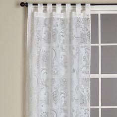 White Voyage Les Indiennes Paisley Burnout Curtain | Window Treatments| Home Decor | World Market