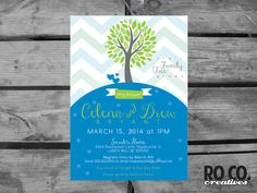 Family Tree Chevron Printable Baby Shower by RoCoCreatives on Etsy, $15.00