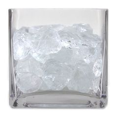 Crushed Glass Vase Fillers - Clear [424257] : Wholesale Wedding Supplies, Discount Wedding Favors, Party Favors, and Bulk Event Supplies