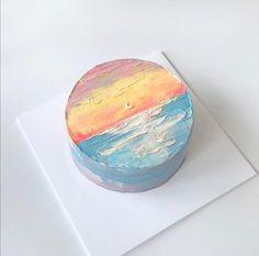 Pretty Birthday Cakes, Pretty Cakes, Beautiful Cakes, Cake Birthday, Simple Cake Designs, Korean Cake, Pastel Cakes, Cute Desserts, Dessert Decoration