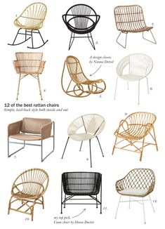 12 of the best rattan armchairs - home deco - Design Rattan Furniture Design Lounge, Chair Design, Furniture Design, Modern Furniture, Ratan Furniture, Cane Furniture, Furniture Market, Bedroom Furniture, Furniture Nyc