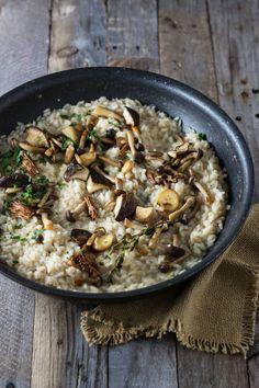 Wild Truffle-Mushroom Risotto| cookingatsabrinas.com @sabrinascooking