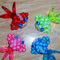 Beaded-weaving 5PCS Mini Goldfish Car Hanging Decor beadwork for kids