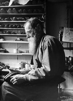 F. A. Sandell, Stockholm, Sweden    The shoemaker F. A. Sandell in his workshop.