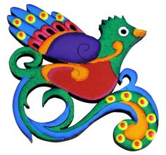 Wood Quetzal Magnet