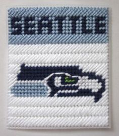 Seattle Seahawks tissue box cover in plastic canvas PATTERN ONLY by AuntCC for $2.50