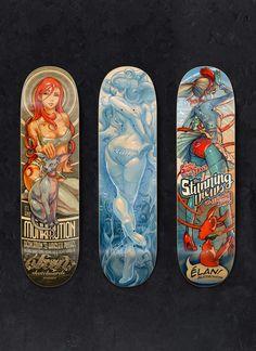 Elan Skateboards by Supervixen