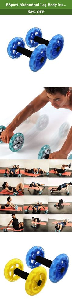 ESport Abdominal Leg Body-building Ab Wheels, Dual Dynamic Strength Core Wheels & Ab Trainer For Strong Core Exercises, Set of 1 pair, Blue. Product Features: ●Provides more dynamic core exercises than the standard one roller Ab Wheel ●Provides better ground and grip control ●Enhance traditional plank and push-up exercises ●Lightweight and portable Ergonomic foam handles for comfort Description: ESport Gym Ab Wheels actively target the muscles in your lower abdomen which are notoriously...