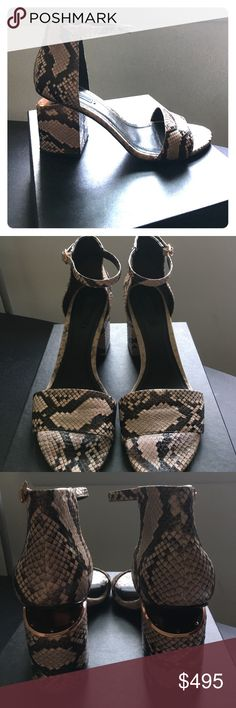 "Alexander Wang sandals Alexander Wang Abby sandals in water snake. Mid heel sandal -3""with cut out heel in rose gold plate. Leather outsole & wrapped heel. Exclusive model, rare. Perfect condition. Size : European 40 = 10. Alexander Wang Shoes Sandals"