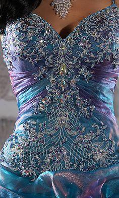 Crystal Organza Quinceanera detail