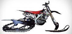 オフロードバイクをキャタピラ付きのスノーバイクにする「Mountain Horse Kit」―雪のバレンタインはこいつにまかせろ!