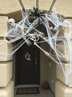 Skeletons in spider web