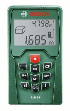 Bosch Télémètre laser numérique PLR 25 plage de mesure jusqu'à 25 mètres 0603016200