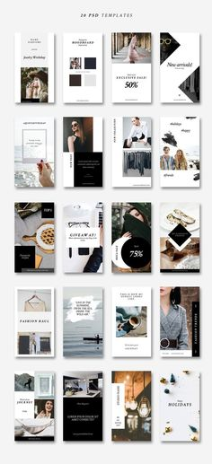 Instagram Stories-Lifestyle&Fashion by CreativeFolks on @creativemarket #socialmedia #social #media #marketing #promotion #socialmediamarketing