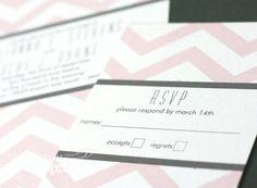 #pink #chevron wedding #invitations