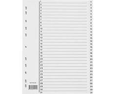 Permregister 1-31 av plast med indeksblad