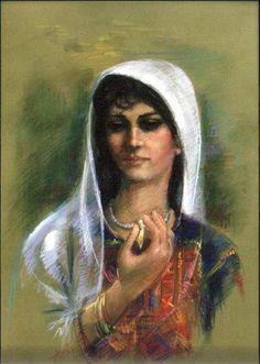 فلسطينية كانت ولم تزل اللوحة للفنان اسماعيل شموط