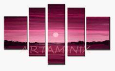 Sundown #fuxia #violet #modern #landscapes #gift #art