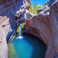 "Hamersley Gorge in Karijini National Park, Australia. Did someone say ""National Park""?!"