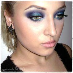 Special Koko - Make-up, beauty & fashion!: Dramatic Blue Make-up Look using Sleek