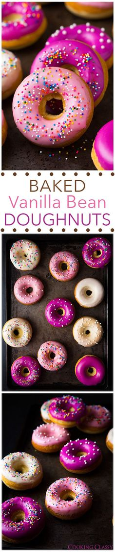 Baked Vanilla Bean Doughnuts - these doughnuts are heavenly!! Soft, moist, perfect!