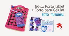#T42 Foto-Tutorial: Bolso Porta Tablet + Forro para Celular ~ Creaciones Tejidas