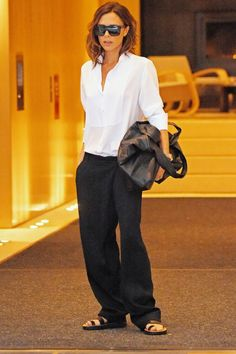 Victoria Beckham In Victoria Beckham With Celine Shoes In New York, September 2016 - Victoria Beckham's Style Transformation In Pics