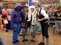 White Rabbit, Mad Hattress, Caterpillar, and Al in Wonderland #cosplay #whiterabbit #wonderland #costumes #comic-con #bcc