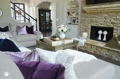 fall-living-room-with-purple-and-blue-pillows