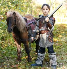 kid leather armor viking by Lagueuse.deviantart.com on @DeviantArt