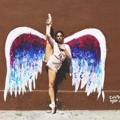 Dancer - Kylie Shea Lewallen. <br /> <br /> Mural - Colette Miller. <br /> <br /> Location - Los Angeles, California. <br /> <br /> Ballet Zaida is on Instagram. Username: BalletZaida
