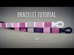 Striped Macramé Bracelet Tutorial by Macrame School. DIY Striped Macramé Bracelet - Tutorial in Boho Style by Macrame School. Easy to make and looks good. Please watch more Micro Macrame Tutorials in Vintage style here: . and All Macrame bracelets in Macrame Bracelet Patterns, Macrame Bracelet Tutorial, Friendship Bracelets Tutorial, Crochet Bracelet, Macrame Necklace, Macrame Jewelry, Macrame Bracelets, Friendship Bracelet Patterns, Armband Tutorial