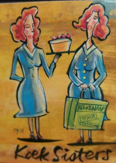 Afrikaans, Sisters, Painting, Art, Art Background, Painting Art, Kunst, Paintings, Performing Arts