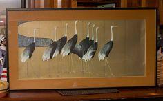 Japanese Cranes art print Smithsonian by lloydstreasures on Etsy Asian Landscape, Japanese Crane, Water Patterns, Edo Period, Ceramic Artists, School Design, Symbols, Art Prints, Painting