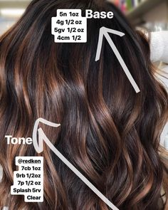Just in case you missed my story on this beautiful formula! Jen VandenBos base a. Just in case you Brown Hair Balayage, Brown Hair With Highlights, Brown Blonde Hair, Ombre Hair, Balayage Vs Highlights, Bayalage, Color Highlights, Dark Hair, Fall Hair Color For Brunettes