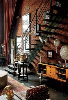El Rincón Vintage de Karmela: Paredes de ladrillo visto, una genialidad decorativa.